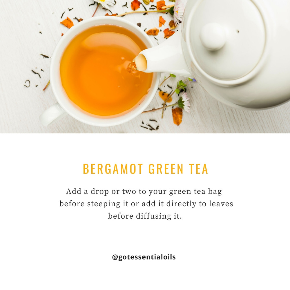 bergamot green tea with essential oil