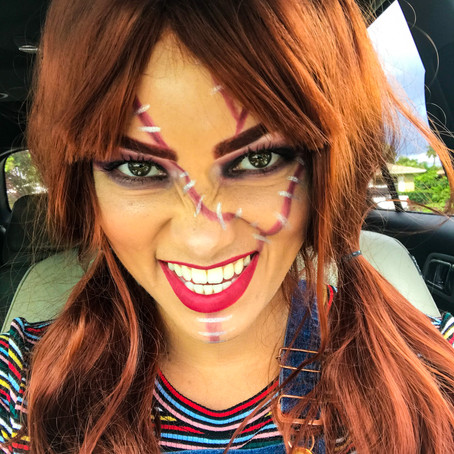 DIY Chucky Halloween costume and make up