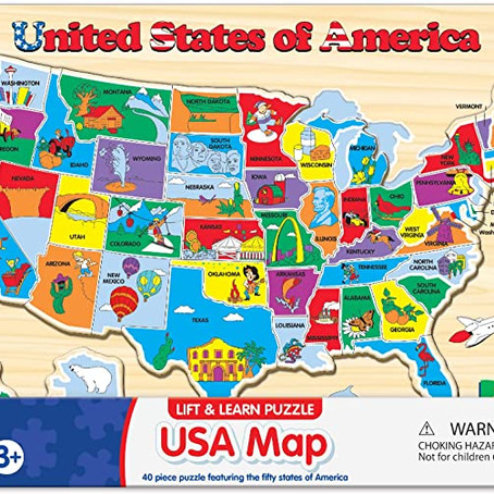 $10.74 (reg $25.90) The Learning Journey Lift & Learn Puzzle - USA Map Puzzle for Kids *limited deal