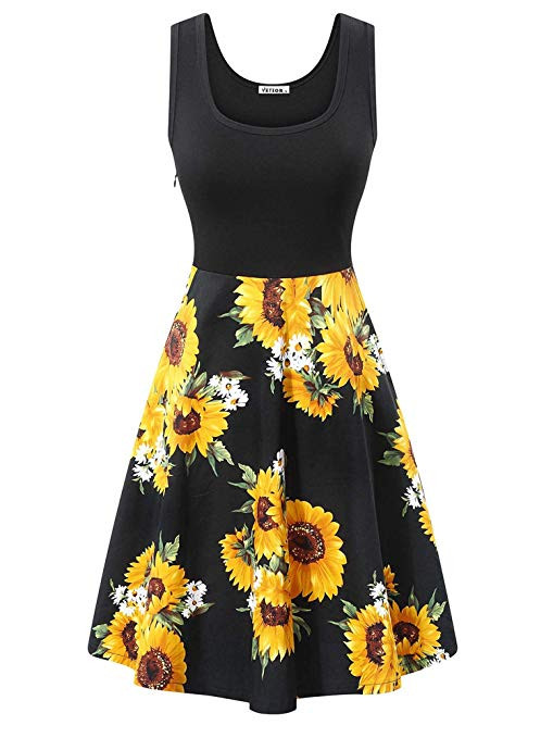 Cute sunflower vintage dress
