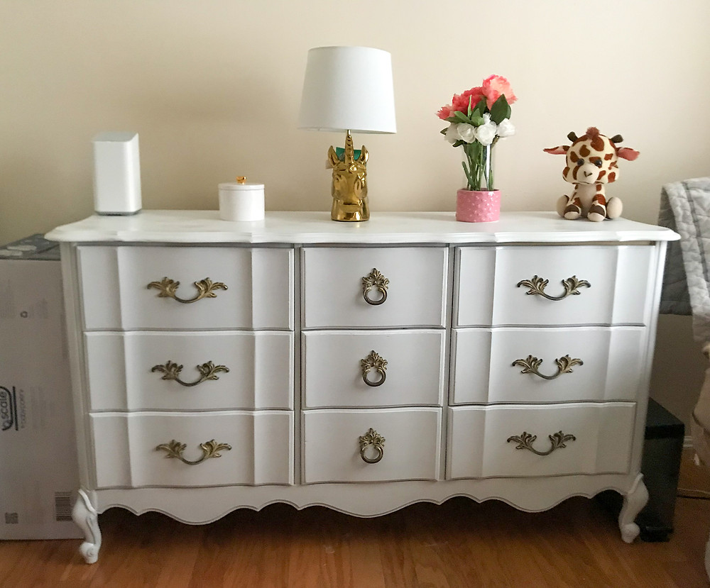 white free nursery dresser from facebook marketplace