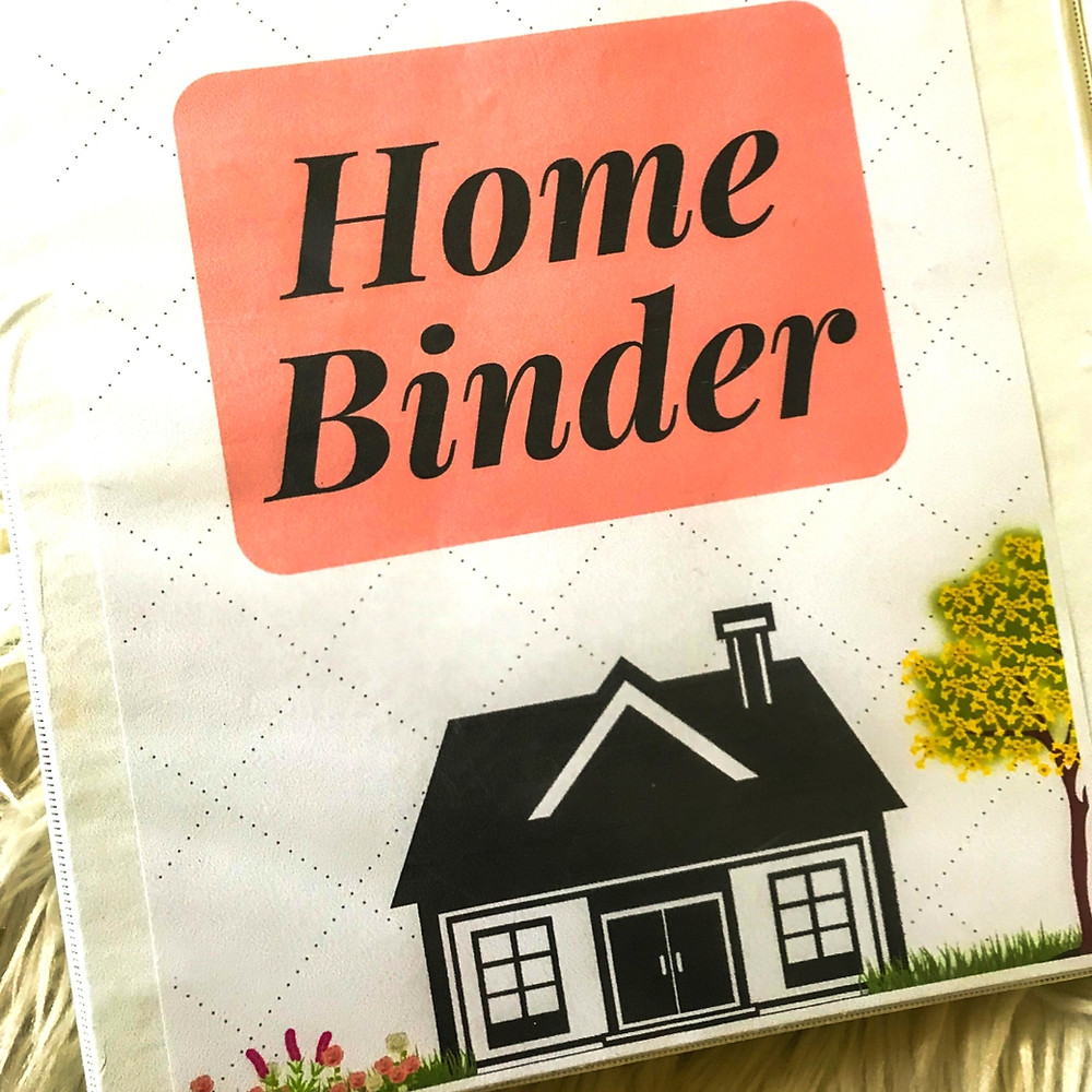 Home binder organization for home sellers