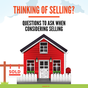 questions to ask when considering selling