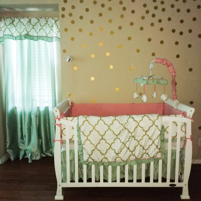 Mint Green and Coral Nursery