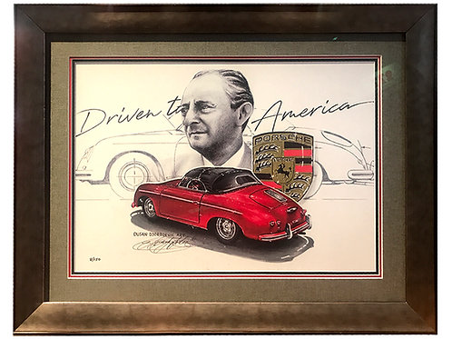 Limited Edition, Numbered Hoffman Tribute Print – Includes Custom Frame