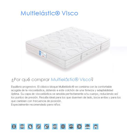 COLCHON FLEX MULTIELASTIC VISCO