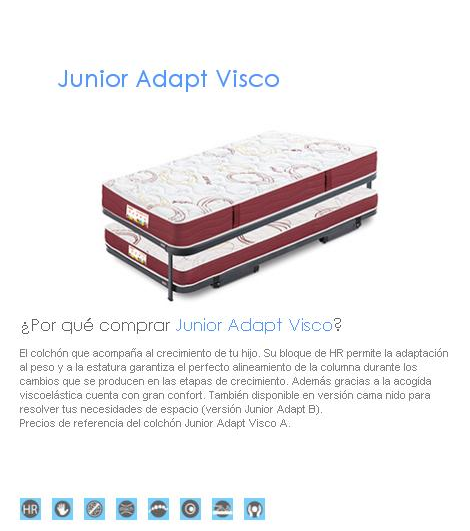 COLCHON FLEX JUNIOR ADAPT VISCO