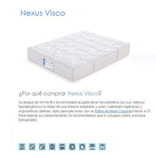 COLCHON FLEX NEXUS VISCO
