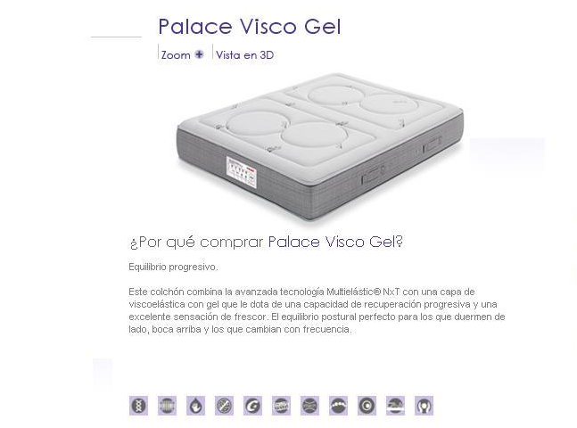COLCHON FLEX PALACE VISCO GEL