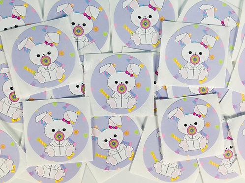 Set of 4 Sugar Bunny Stickers