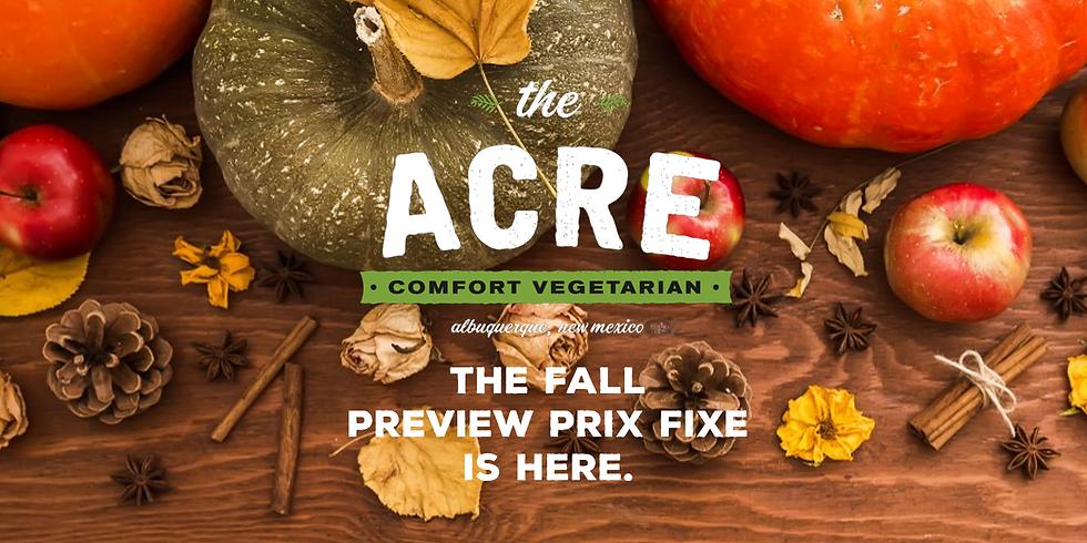 Fall Preview Prix Fixe