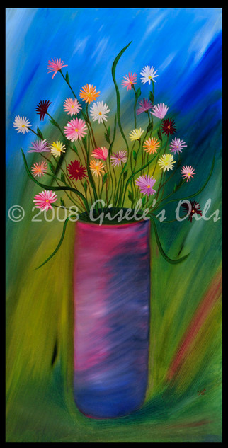 """TITLE """"THE ARRANGEMENT"""" SIZE 24 inches wide by 48 inches tall DATE 2008 MEDIUM Winsor & Newton Oil paints CANVAS Fredrix 100% Cotton Artist Canvas"""