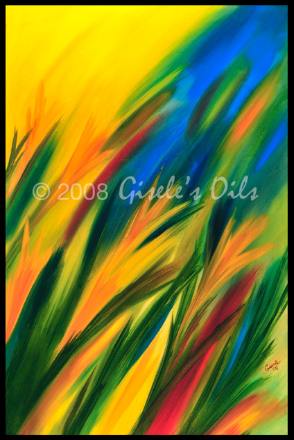 """TITLE """"SUMMERTIME"""" SIZE 24 inches wide by 36 inches tall DATE 2008 MEDIUM Winsor & Newton Oil paints CANVAS Fredrix 100% Cotton Artist Canvas"""