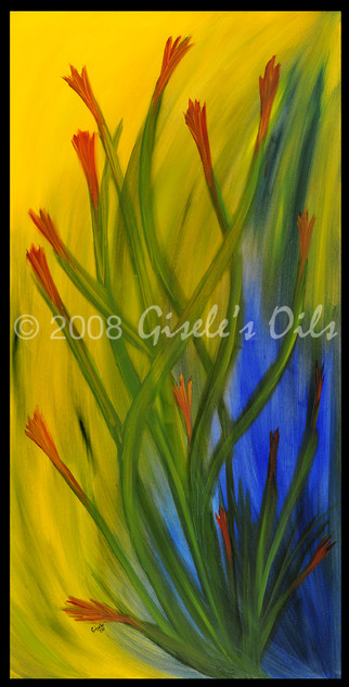 """TITLE """"UNDER THE SEA"""" SIZE 24 inches wide by 48 inches tall DATE 2008 MEDIUM Winsor & Newton Oil paints CANVAS Fredrix 100% Cotton Artist Canvas"""