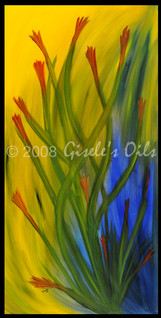 "TITLE ""UNDER THE SEA"" SIZE 24 inches wide by 48 inches tall DATE 2008 MEDIUM Winsor & Newton Oil paints CANVAS Fredrix 100% Cotton Artist Canvas"
