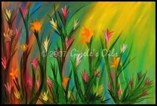 """TITLE """"AFTERNOON SUN"""" SIZE 36 inches wide by 24 inches tall DATE 2007 MEDIUM Winsor & Newton Oil paints CANVAS Fredrix 100% Cotton Artist Canvas"""