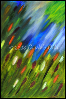 "TITLE ""APRIL SHOWERS"" SIZE 24 inches wide by 36 inches tall DATE 2008 MEDIUM Winsor & Newton Oil paints CANVAS Fredrix 100% Cotton Artist Canvas"