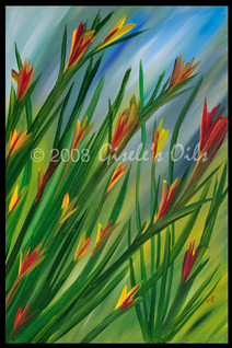 "TITLE ""AFTER THE RAIN"" SIZE 24 inches wide by 36 inches tall DATE 2008 MEDIUM Winsor & Newton Oil paints CANVAS Fredrix 100% Cotton Artist Canvas"