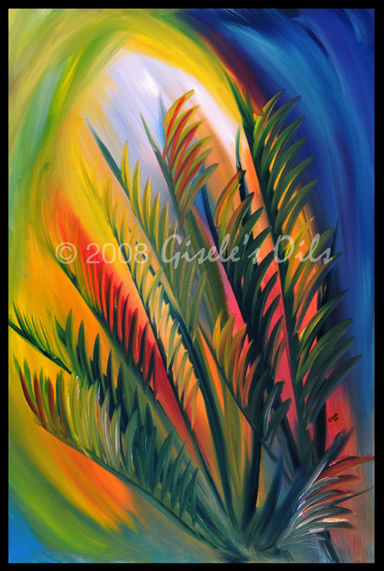 """TITLE """"AFTERNOON GLOW"""" SIZE 24 inches wide by 36 inches tall DATE 2008 MEDIUM Winsor & Newton Oil paints CANVAS Fredrix 100% Cotton Artist Canvas"""