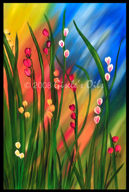 """TITLE """"HAPPINESS"""" SIZE 24 inches wide by 36 inches tall DATE 2008 MEDIUM Winsor & Newton Oil paints CANVAS Fredrix 100% Cotton Artist Canvas"""
