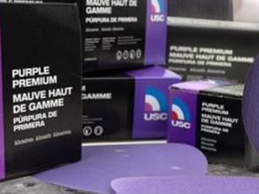 "USC 6"" DA Vac Premium Purple - 400 Grit"