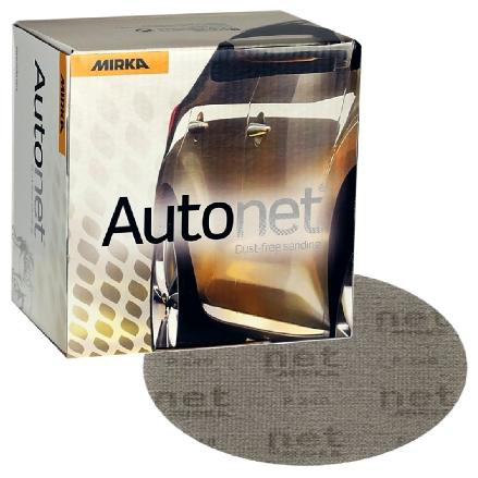 """Mirka Autonet 6"""" DA Discs - 320 Grit"""