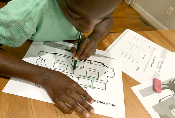 Coloring in Family Tree