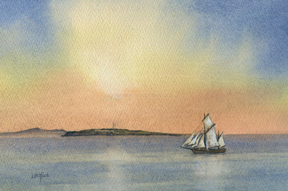 Severn Trow passing Flat Holm