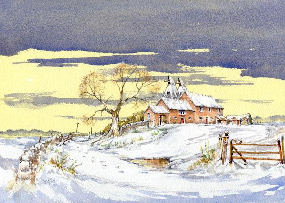 Snow at Brook Farm Leigh Sinton