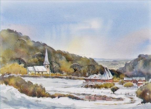 Church and Hop Barns