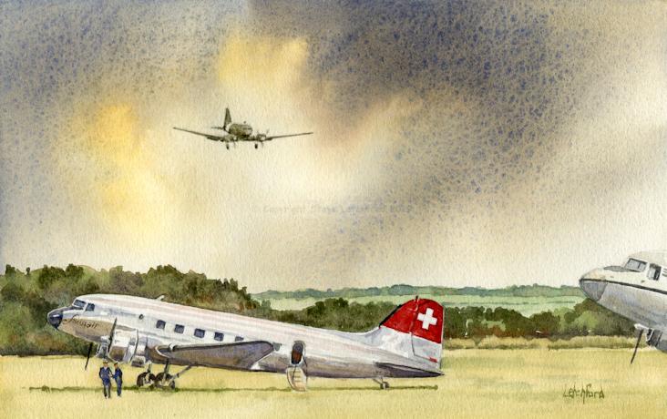 Daks over Duxford Swissair