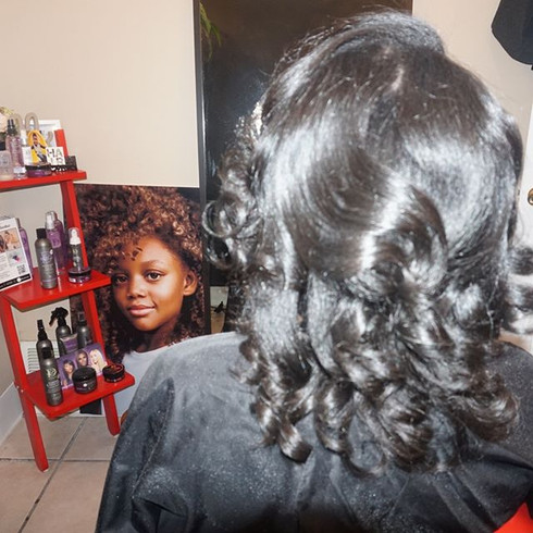 Agave & Lavender Blowout & Silk Press Collection is bomb! Period. Sign up for a free in salon demonstration.jpg