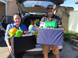 Anna and Raouf  - Toy Drive refugees