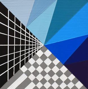 "Laura Sellers Harrison, ""Glitch #4"", 8""x8"", 2018."