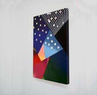 """Laura Sellers Harrison, """"Atmospheric III"""", 24""""x36', 2019"""