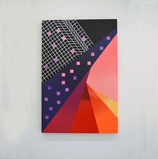 """Laura Sellers Harrison, """"Atmospheric II"""", 24""""x36', 2019"""