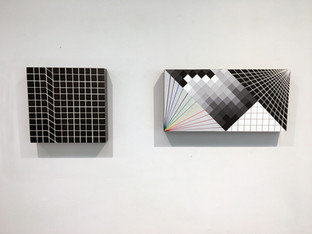 Laura Sellers Harrison Glitch Paintings Installation Shot