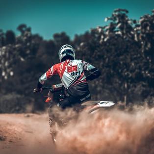 Motocross session at Big Rock Dirt Park, Bengaluru, Karnataka.