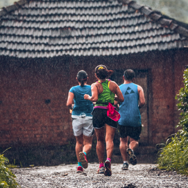 Runners at Durshet Forest Marathon, Khapoli, Maharashtra.