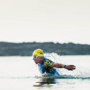 Pablo Erat on his way to claiming the win in Goa Triathlon.