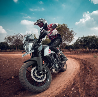 Adventure bike training at Big Rock Dirt Park, Bengaluru, Karnataka.