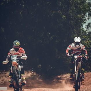 It is double wheelie time on the motocross track at the BIG Rock Dirt Park, Kolar, Karnataka.