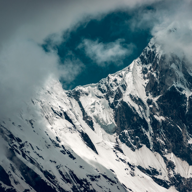 Clouds cover the Panchachuli peaks in Darma Valley, Pithoragarh, Uttarakhand.
