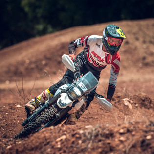 Motocross rider at Big Rock Dirt Park, Bengaluru, Karnataka.