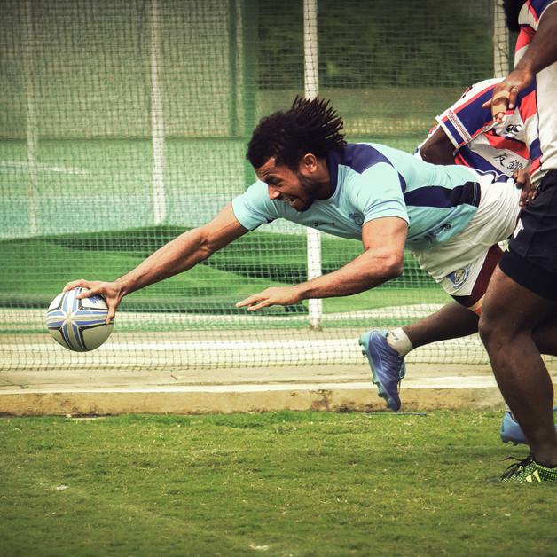 Touchdown play. he British Royal Airforce Rugby team.