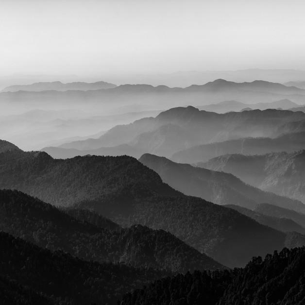 The valley below as seen from Khaliya Top, Munsiyari, Uttarakhand.
