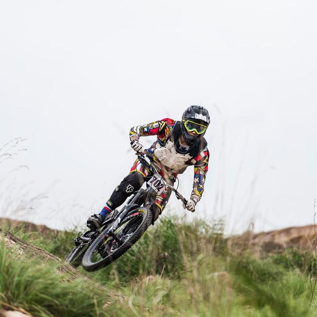 Wall riding, BBCH MTB downhill race, Bengaluru.