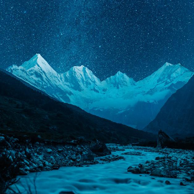 A night under the stars at Panchachuli Base Camp in Dugtu, Uttarakhand.