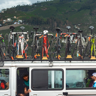 The riders prepare for the first day of Veloscope Cycling camp in Ooty, Tamilnadu.