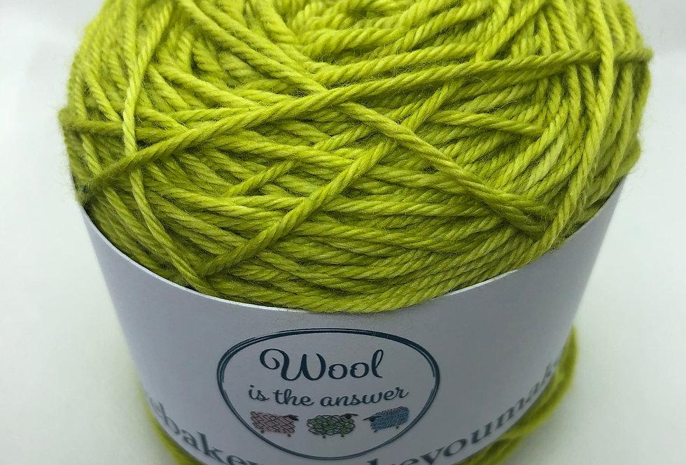 Hand Dyed DK Superwash Merino Olive